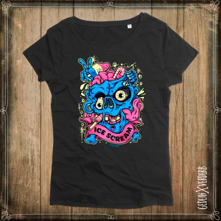 "T-Shirt ""Ice Cream Skull"" Damen"