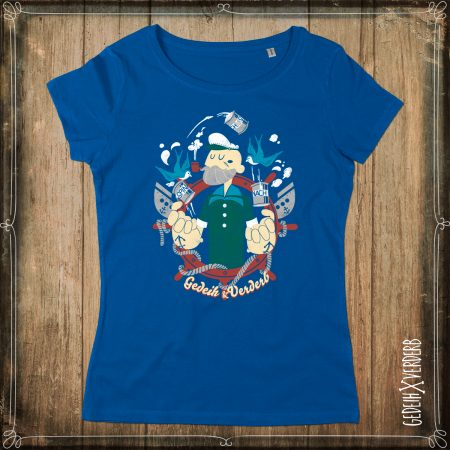 "T-Shirt ""Sailor"" Damen royal blau"