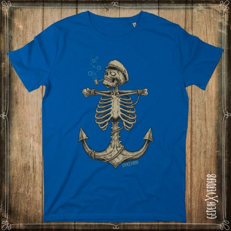 "T-Shirt ""Skull Anchor"" Herren royal blau"
