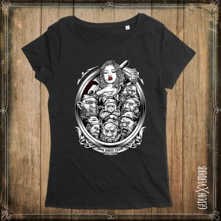 "T-Shirt ""Snow White Trash"" Damen"