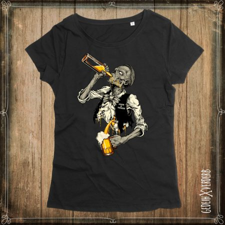 "T-Shirt ""ZomBie(r)"" ""Sisyphos-Saufen"" Damen"