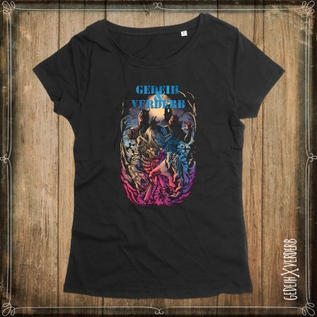 "T-Shirt ""Zombie Friedhof"" Damen"