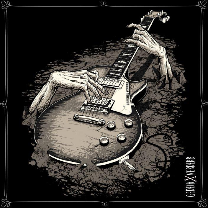 """Guitarzombie"" Motiv"