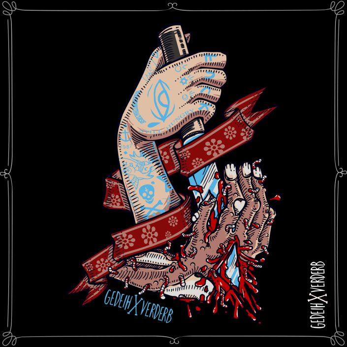 """""""Hands Kill Zombie"""" Motiv"""