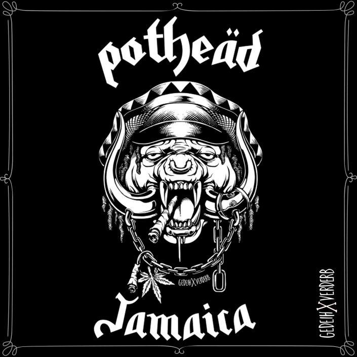 """Pothead Jamaica"" Motiv"