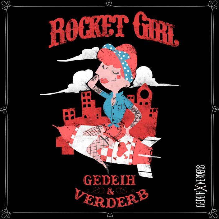 """Rocket Girl"" Motiv"