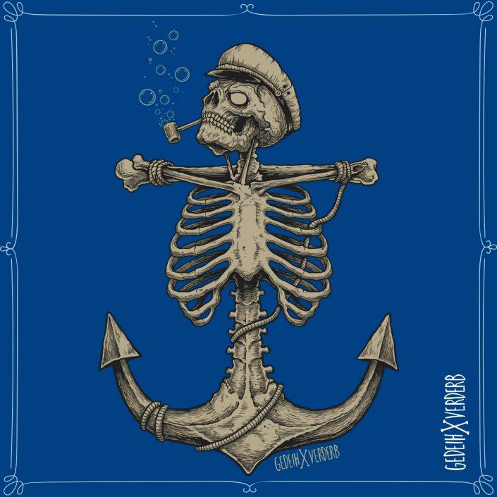 """""""Skull Anchor"""" Motiv"""