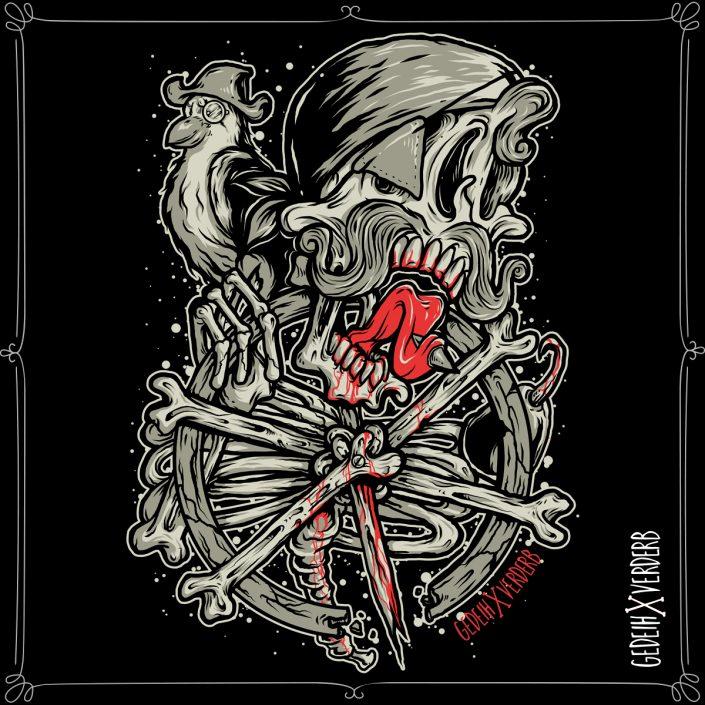 """Skull Pirate"" Motiv"