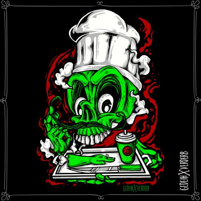 """Zombie Cook"" Motiv"